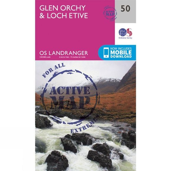 Active Landranger Map 50 Glen Orchy and Loch Etive