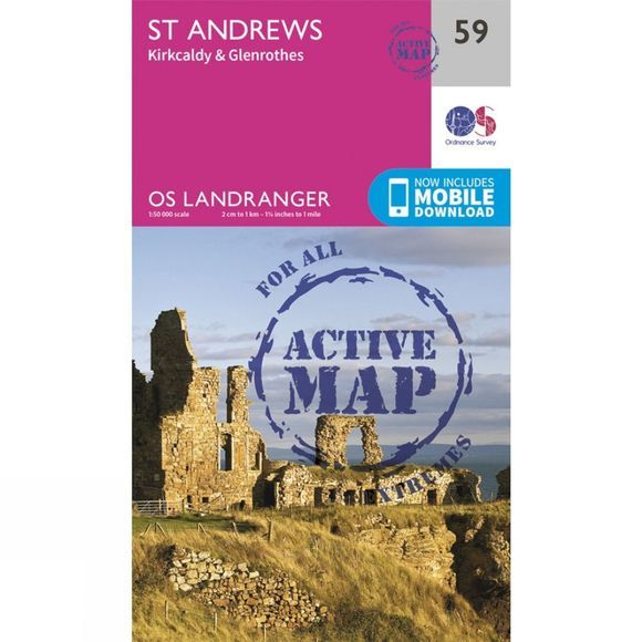 Ordnance Survey Active Landranger Map 59 St Andrews V16