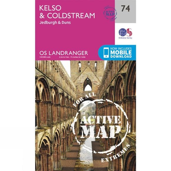 Active Landranger Map 74 Kelso and Coldstream