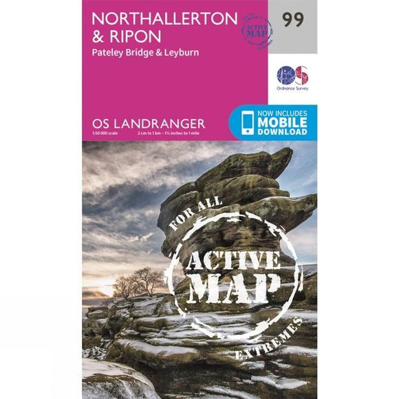 Active Landranger Map 99 Northallerton and Ripon