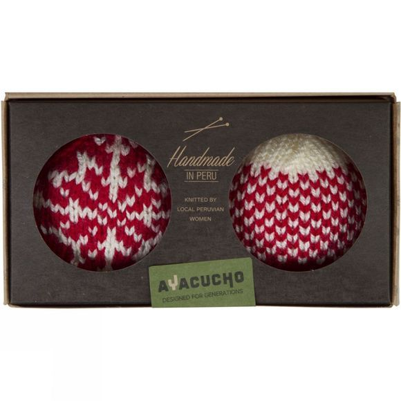 Ayacucho Christmas Baubles 2 Pack Red Baubles - Gradient/Snowflake