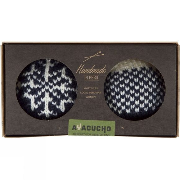 Ayacucho Christmas Baubles 2 Pack Navy Baubles - Gradient/Snowflake
