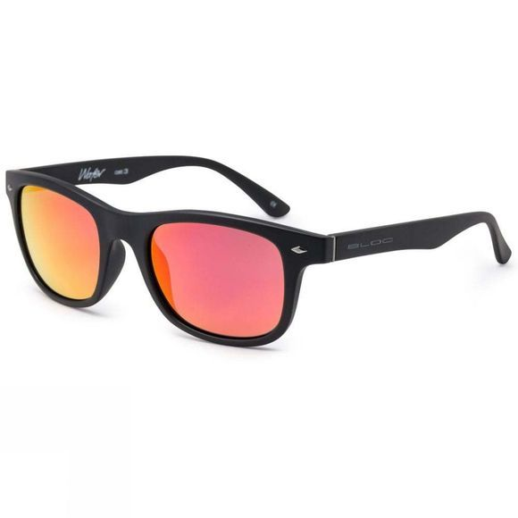 Bloc Junior Wafer Sunglasses Matt Black/ Red Mirror