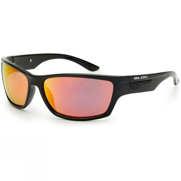 Bloc Bail Sunglasses Shiny Black/Red Mirror