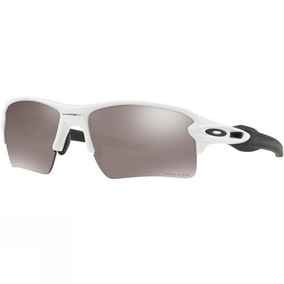 Oakley Flak 2.0 XL Sunglasses Polished White/Prizm Black Polarised