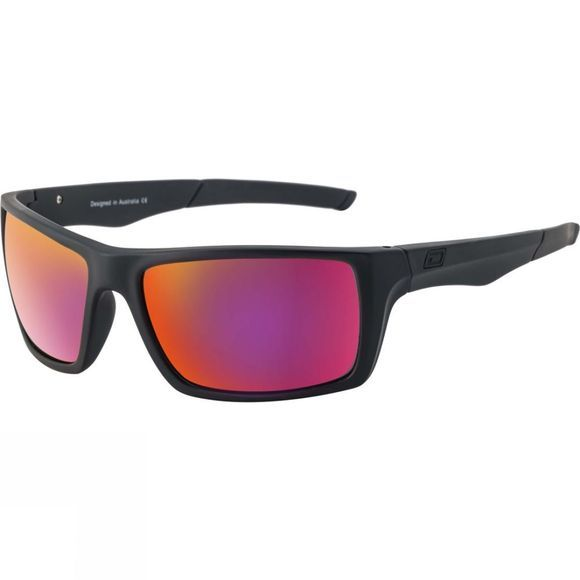 Dirty Dog Primp Sunglasses Satin Black/Red Fusion Polarised