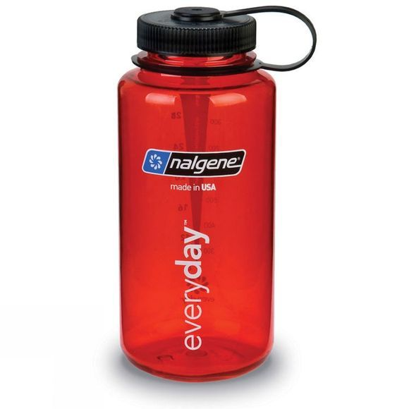 Nalgene Wide Mouth Tritan Bottle 1 Ltr Red