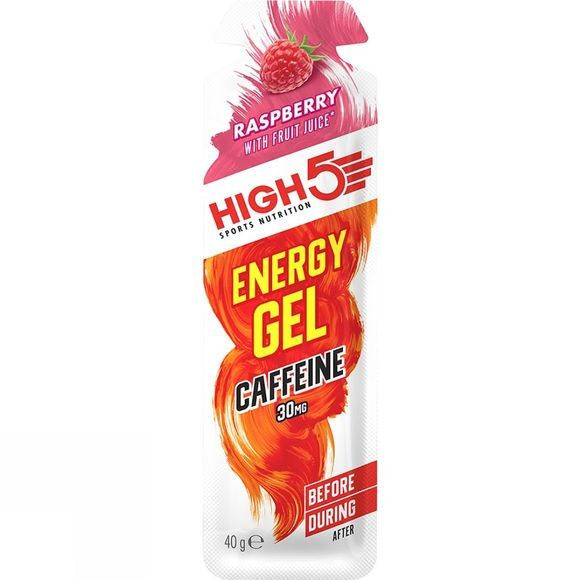 High 5 Energy Gel + Caffeine Raspberry (40g) Raspberry Plus