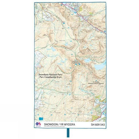Lifeventure SoftFibre Ordnance Survey Travel Towel Snowdon