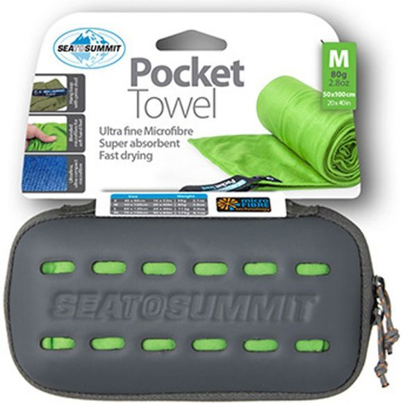 Sea to Summit Pocket Towel Medium Lime