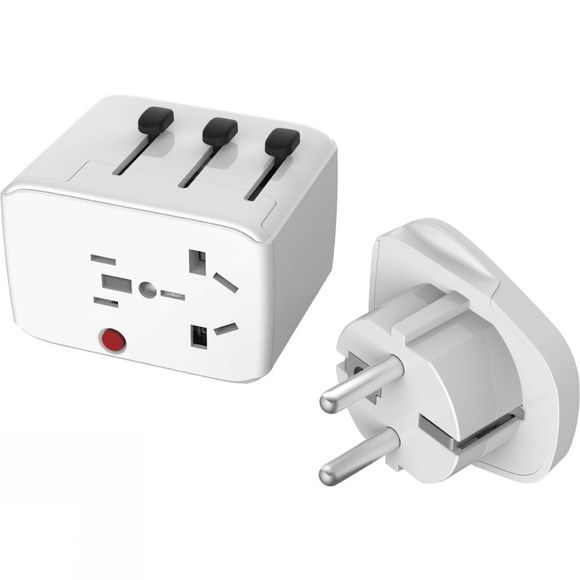 Lifeventure USB Travel Adapter White