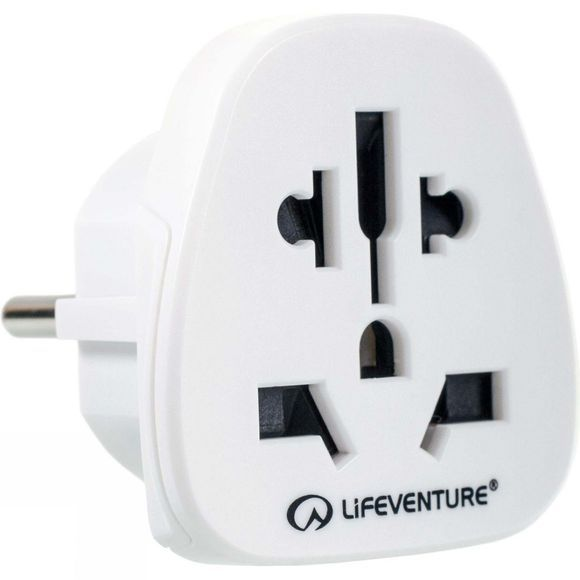 Lifeventure European Travel Adapter White