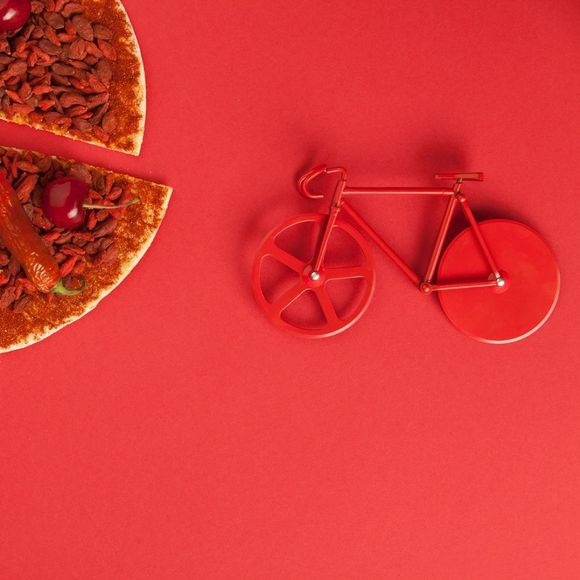 Doiy Fixie Pizza Cutter  Pure Red