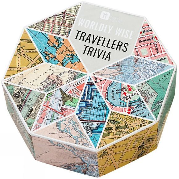 Talking Tables Worldly Wise Travellers Trivia No Colour