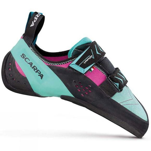 Scarpa Womens Vapor V Rock Shoes Dahlia/Aqua