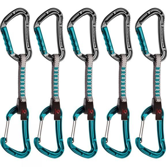 Mammut Bionic Express (5 Pack) Straight Gate/Wire Gate Quickdraw Basalt / Aqua