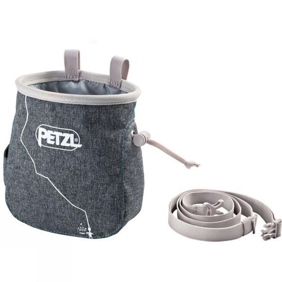 Petzl Saka Chalk Bag Mottled Grey