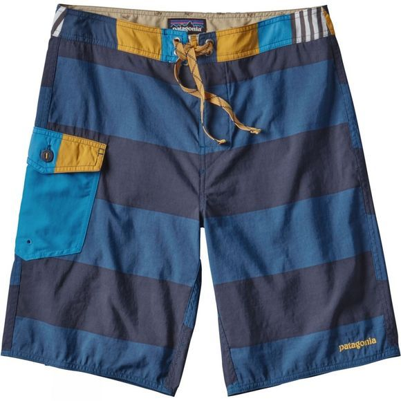 "Patagonia Mens Patch Pocket Wavefarer Board Shorts- 20"" Da Bull Big: Big Sur Blue"
