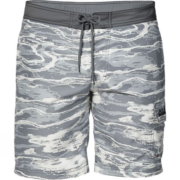 Jack Wolfskin Mens Laguna Board Shorts Titanium All Over