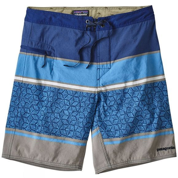 "Patagonia Mens Wavefarer Boardshorts 19"" Batik Hex Stripe:Superior Blue"