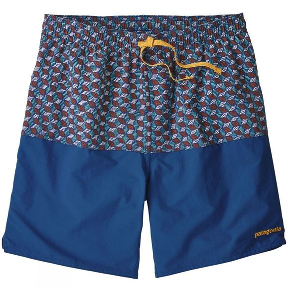 "Patagonia Mens Stretch Wavefarer Volly Shorts 17"" Superior Blue"