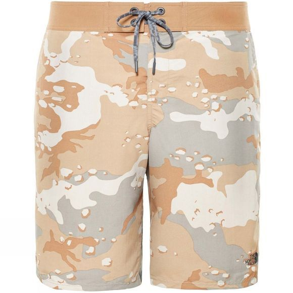 The North Face Mens Class V Swim Shorts Moab Khaki Desert Print