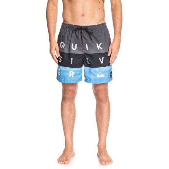 Quiksilver Mens Word Block 17' Swim Shorts Iron Gate