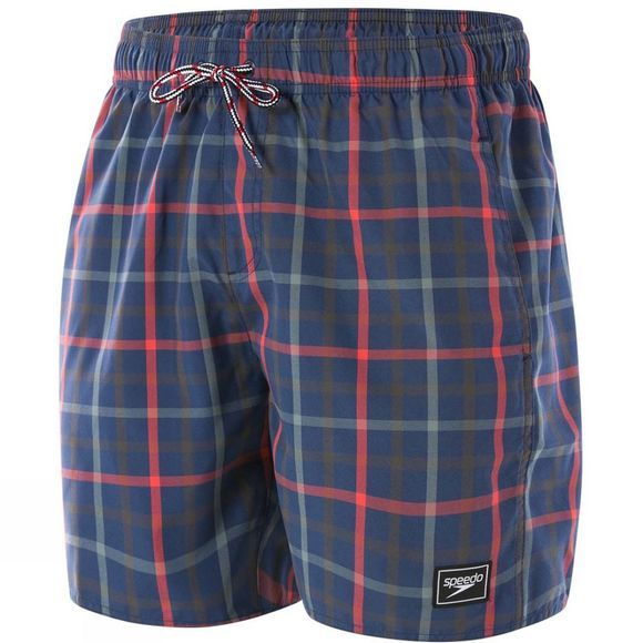 Speedo Mens Check Leisure Watershort Navy/Red