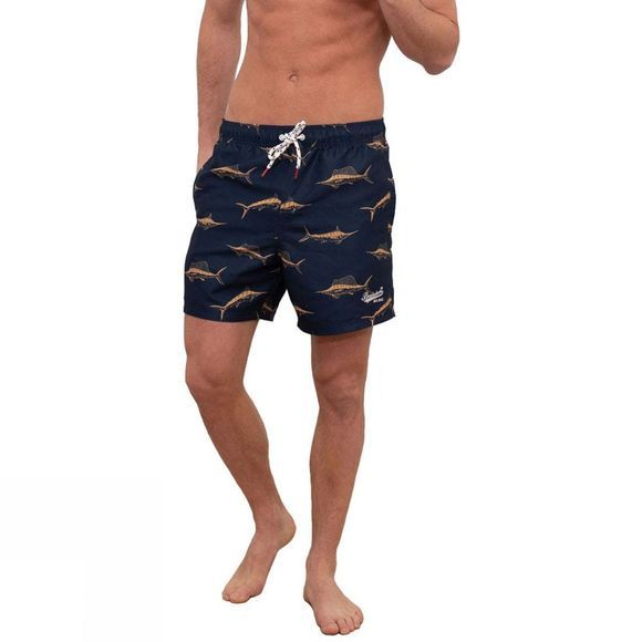 Brakeburn Men's Swordfish Boardshorts Navy