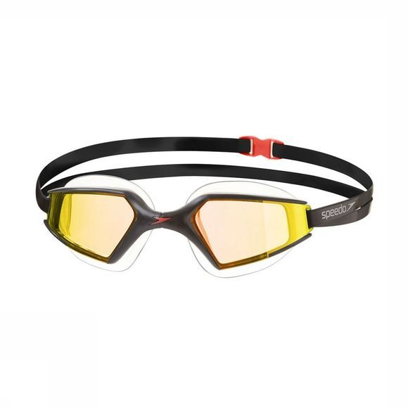 Speedo Aquapulse Max Mirror 2 Black/ Orange Gold