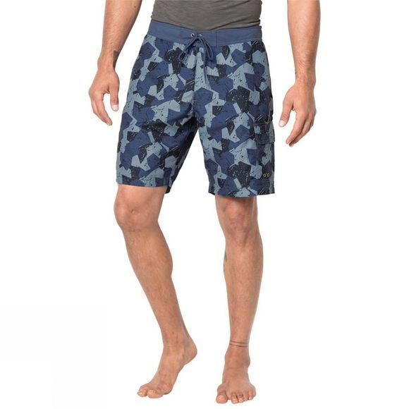 Jack Wolfskin Mens Marble Boardshorts Ocean Wave All Over