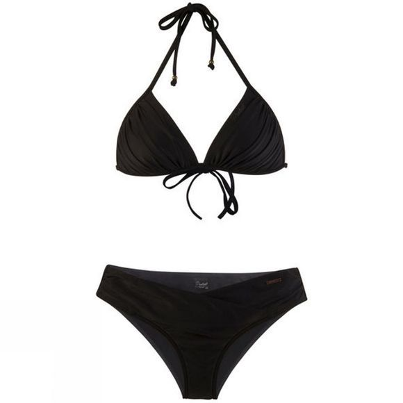 Protest Womens Grass 18 Triangle Bikini Set  True Black