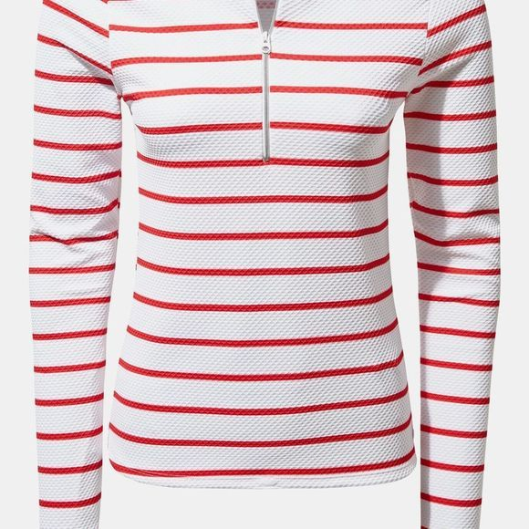 Craghoppers Womens NosiLife Cordelia Rash Vest Rio Red Stripe