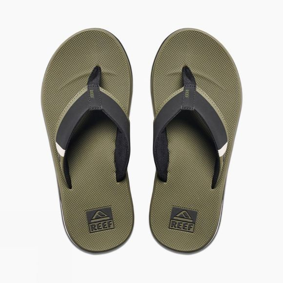 Reef Mens Fanning Low Flip Flop Olive