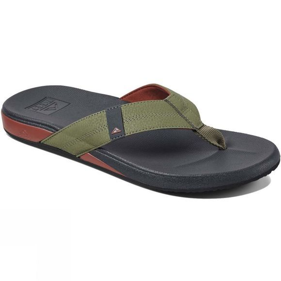 Reef Men's Cushion Bounce Phantom Flip Flop Olive/Red
