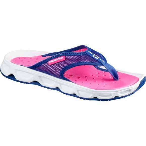 Salomon Womens RX Break Flip Flop White/Pink Yarrow/Surf The Web