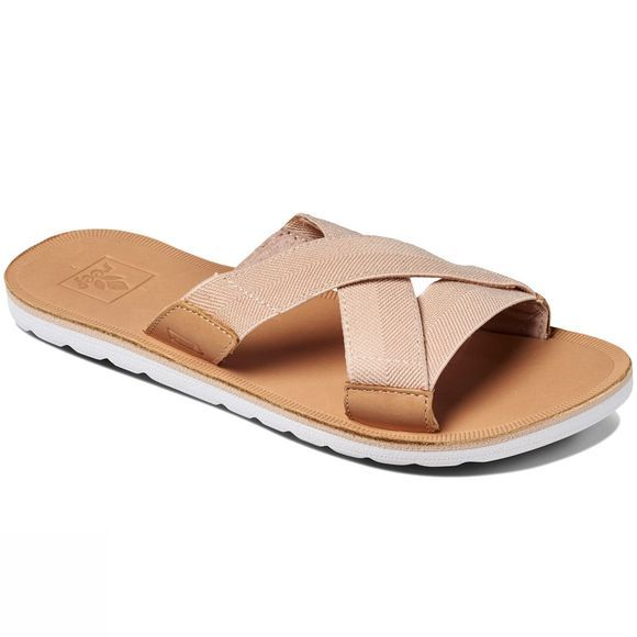 Reef Womens Voyage Slide Flip Flops Natural