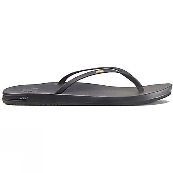 Reef Womens Cushion Bounce Slim Flip Flop Black