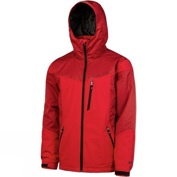 Protest Mens Portland Snowjacket Red Burn