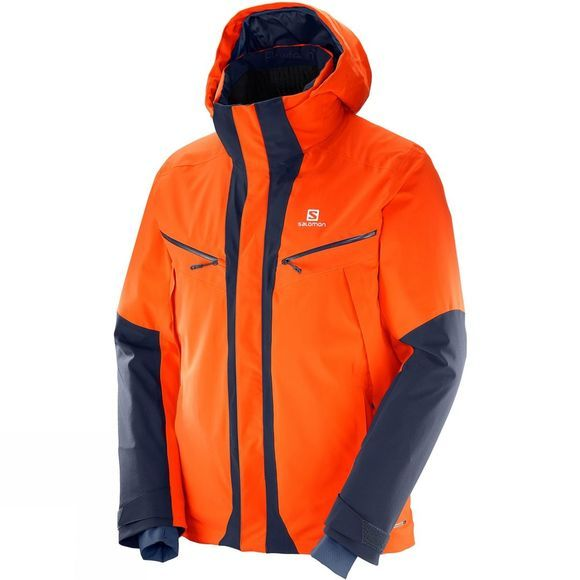 Salomon Mens Icecool Jacket Vivid Orange
