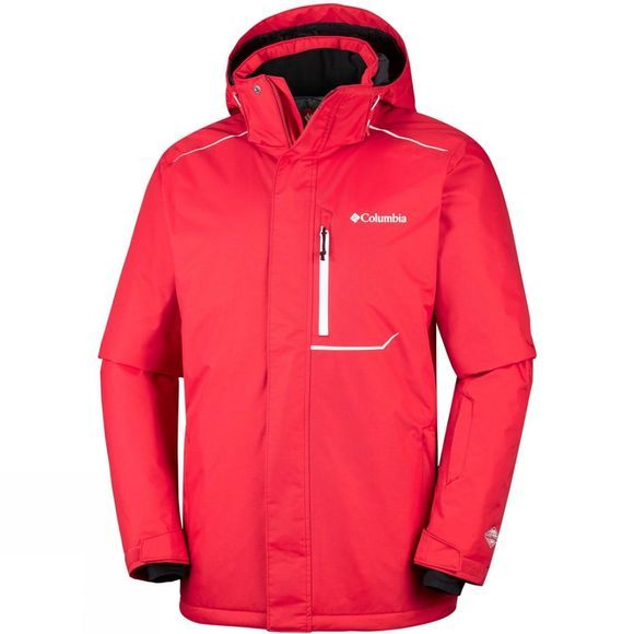 Columbia Mens Ride On Jacket Red Spark