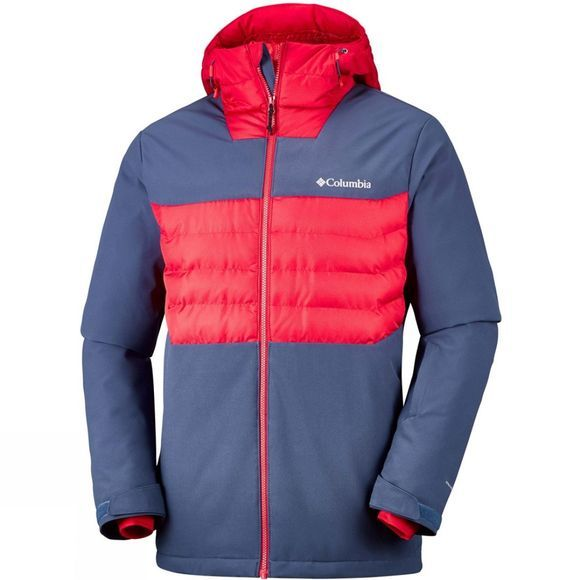 Columbia Mens White Horizon Hybrid Jacket Dark Mountain/ Red Spark