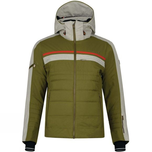 Dare 2 b Mens Throwback Jacket Cardamom Green & Oatmeal