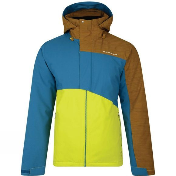 Dare 2 b Mens Hurl Down II Jacket Neon Spring/Titan Blue/Golden Brown
