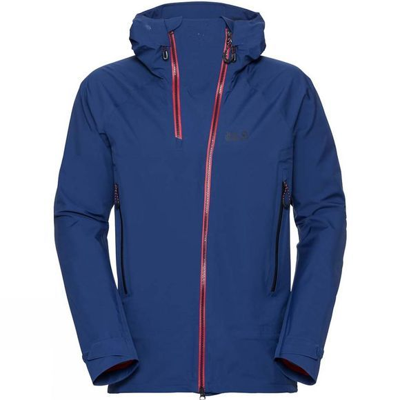 Jack Wolfskin Mens Exolight Range Jacket Royal Blue