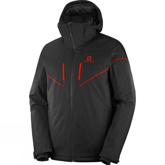Salomon Mens Stormrace Jacket Black/Red Zip