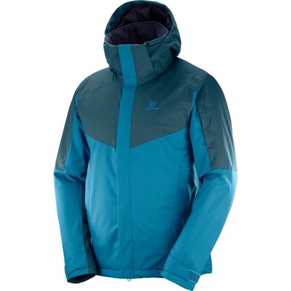 Salomon Mens Stormseeker Jacket Moroccan Blue/Reflecting Pond
