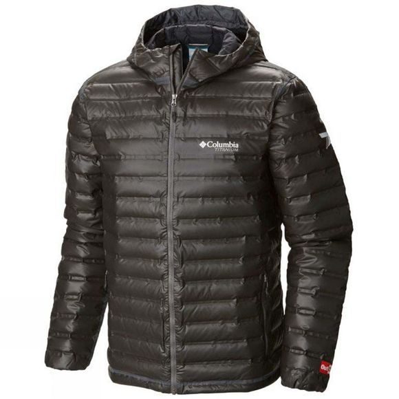 Columbia Mens Outdry Ex Gold Down Hooded Jacket Black
