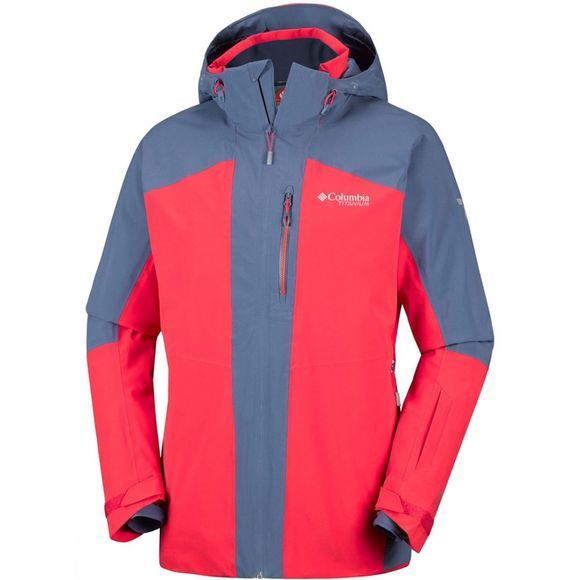 Columbia Mens Snow Rival Jacket Red Spark/ Dark Mountain