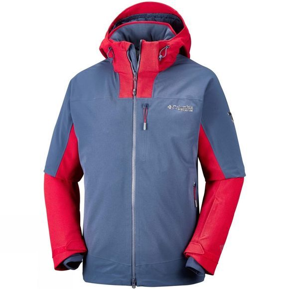 Columbia Mens Powder Keg II Jacket Dark Mountain/ Red Spark